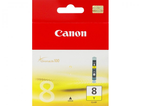 CANON CLI-8Y INK CARTRIDGE YELLOW STANDARD CAPACIT