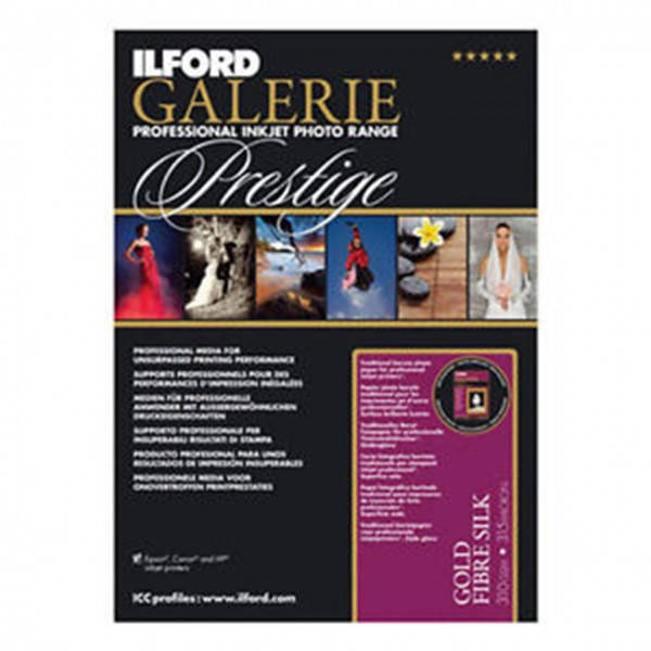 Ilford/Harman GALERIE Gold Fibre Gloss 310gsm, A4 , 25 sheets/Blatt