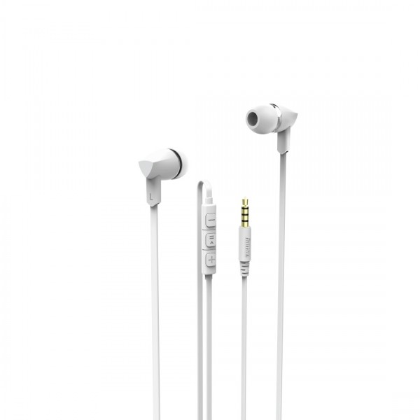 Hama Hoofdtelefoon in-ear basic+ wit