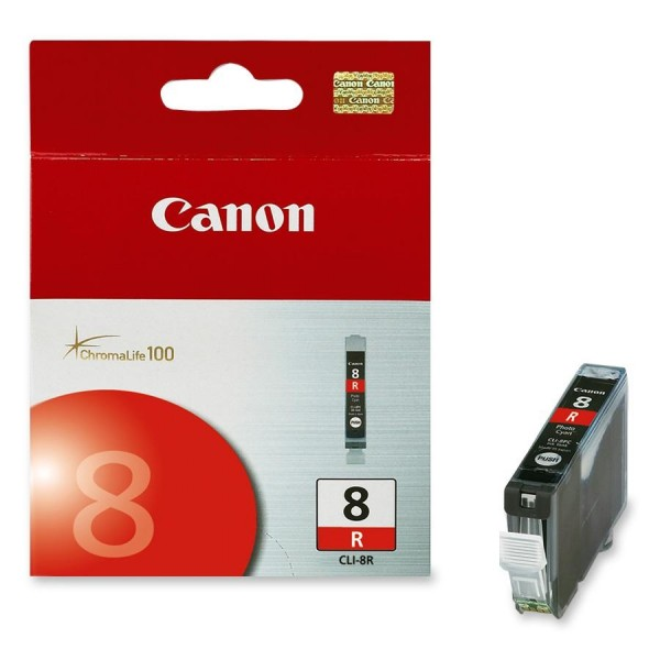 CANON CLI-8R INK CARTRIDGE RED STANDARD CAPACITY 1