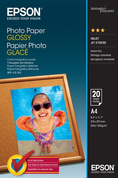 Epson Photo Paper glossy A4 20 vel 200g/m², S042538