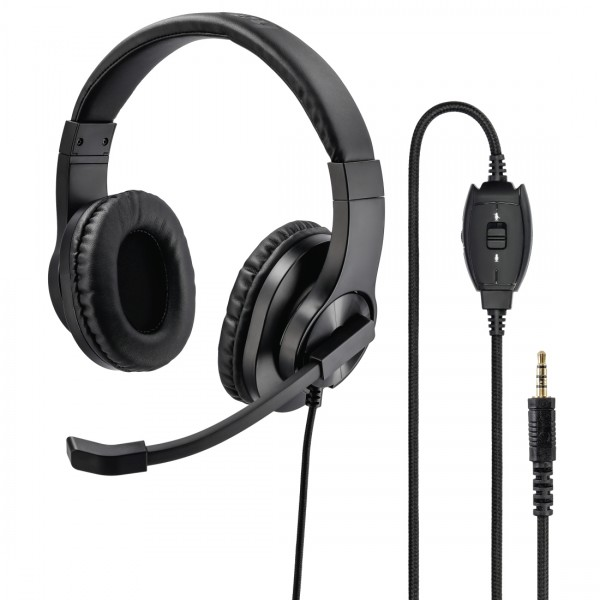 Hama PC-Office-headset HS-P350, stereo, zwart