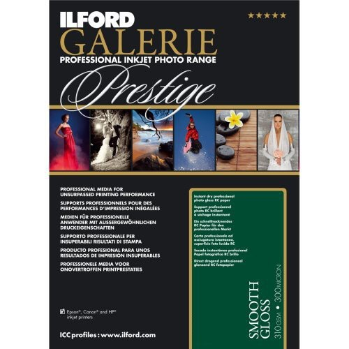 "Ilford/Harman Galerie Prestige Smooth Gloss 310gsm, 5x7"" , 100 sheets"