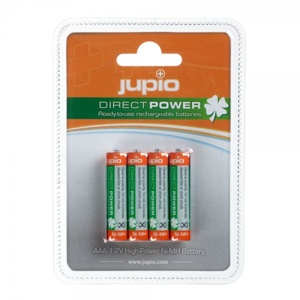 Jupio Rechargeable Batteries AAA 850 mAh 4 pcs DIRECT POWER VPE-10